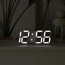 무아스 LED 벽시계 프리미엄 리얼 3D 화이트 상품 이미지