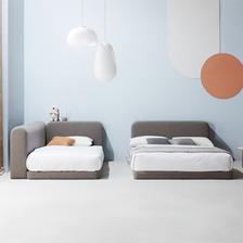 마인 그레이 패밀리형 침대 + 필로우탑 매트 SS/Q 상품 이미지