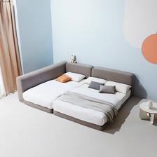 마인 그레이 패밀리형 침대 + 마이크로포켓 매트 Q+SS 상품 이미지